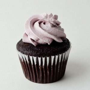 chocolate lavender cupcake